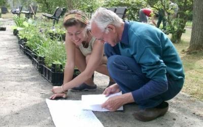 Pflanzpläne zu lesen ist gar nicht so einfach, vor allem, wenn Sie mehr als einen Meter breit sind... (c) Margit See
