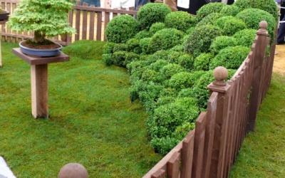 Eine ungewöhnliche Idee für eine Gartenecke.